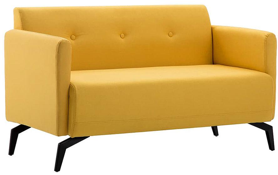 Stylowa 2-osobowa sofa Rivena 2X - żółta