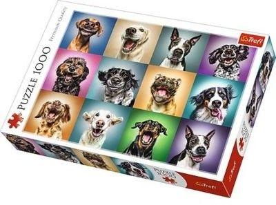 Puzzle TREFL 1000 - Zabawne psie portrety, Funny dog portraits