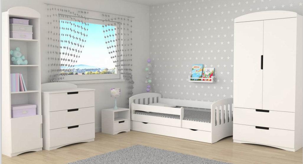 Biały komplet mebli dziecięcych - Pinokio