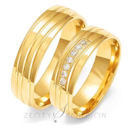 Obrączki ślubne Złoty Skorpion  wzór Au-O123