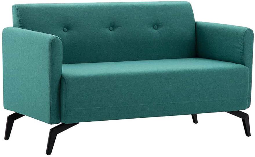 Stylowa 2-osobowa sofa Rivena 2X - zielona