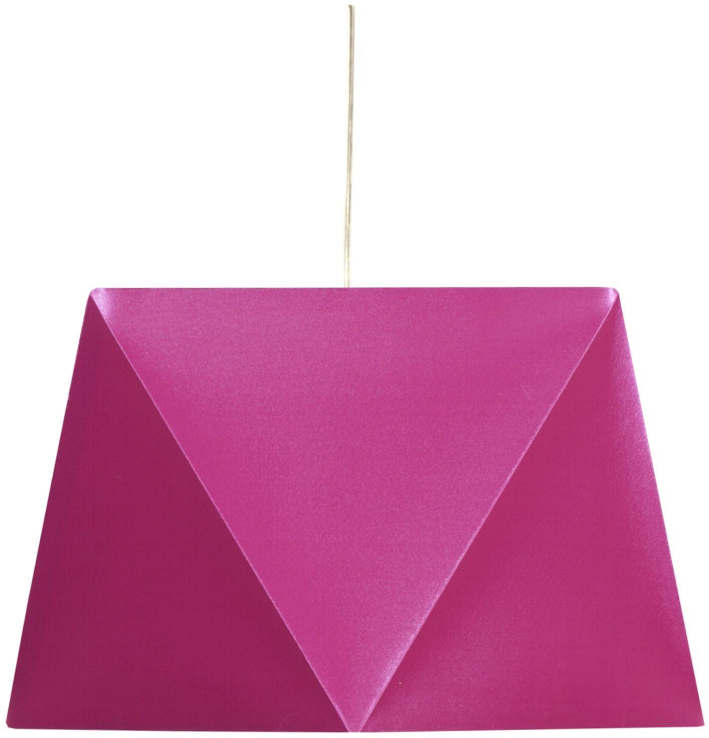 Candellux HEXAGEN 31-03638 lampa wisząca geometryczny kształt abażura różowy 1X60W E27 42 cm