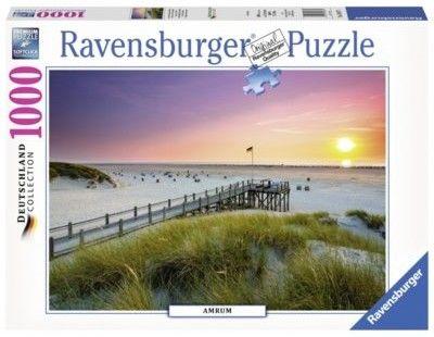 Puzzle Ravensburger 1000 - Aurum, Zachód słońca, Niemcy, Sunset over Amrum