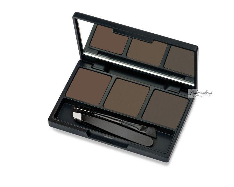 Golden Rose - Eyebrow Styling Kit - Zestaw do stylizacji brwi - 03 DEEP BROWN