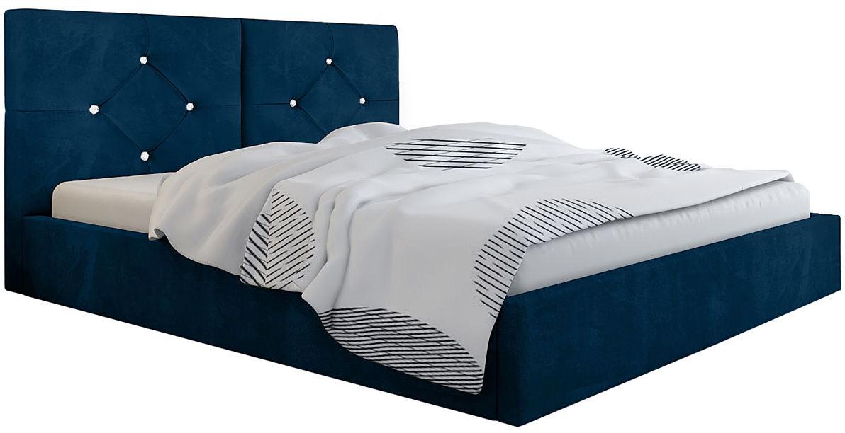 Podwójne łóżko z pojemnikiem 160x200 Celini 3X - 48 kolorów