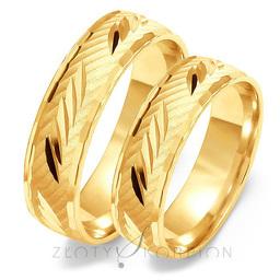 Obrączki ślubne Złoty Skorpion  wzór Au-O124
