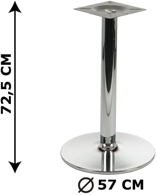 Podstawa stolika NY-B005, chromowana, śr. Podstawy fi 57 cm (stelaż stolika, stołu)