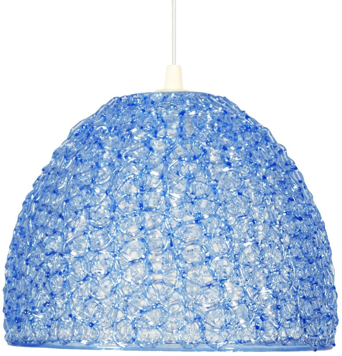 Candellux CANARIA 31-36646 lampa wisząca abażur z żyłki z tworzywa niebieski 1X60W E27 26 cm