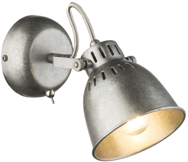 Globo HERNAN 54651-1 kinkiet lampa ścienna srebrno- szary 1xE14 40W 11,5cm