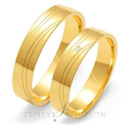 Obrączki ślubne Złoty Skorpion  wzór Au-O125