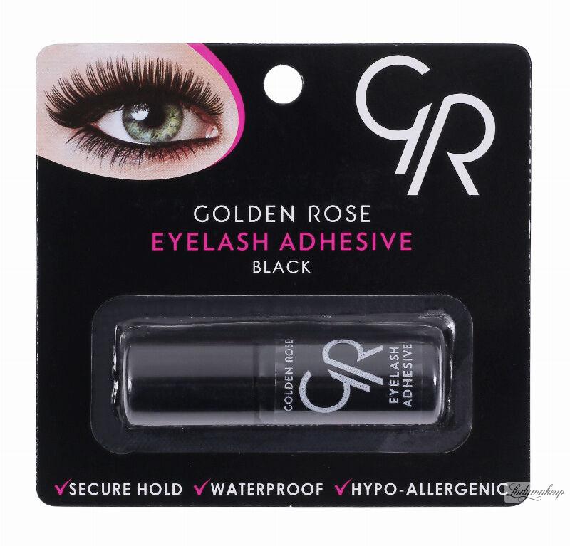 Golden Rose - Eyelash Adhesive Black - Wodoodporny, czarny klej do rzęs