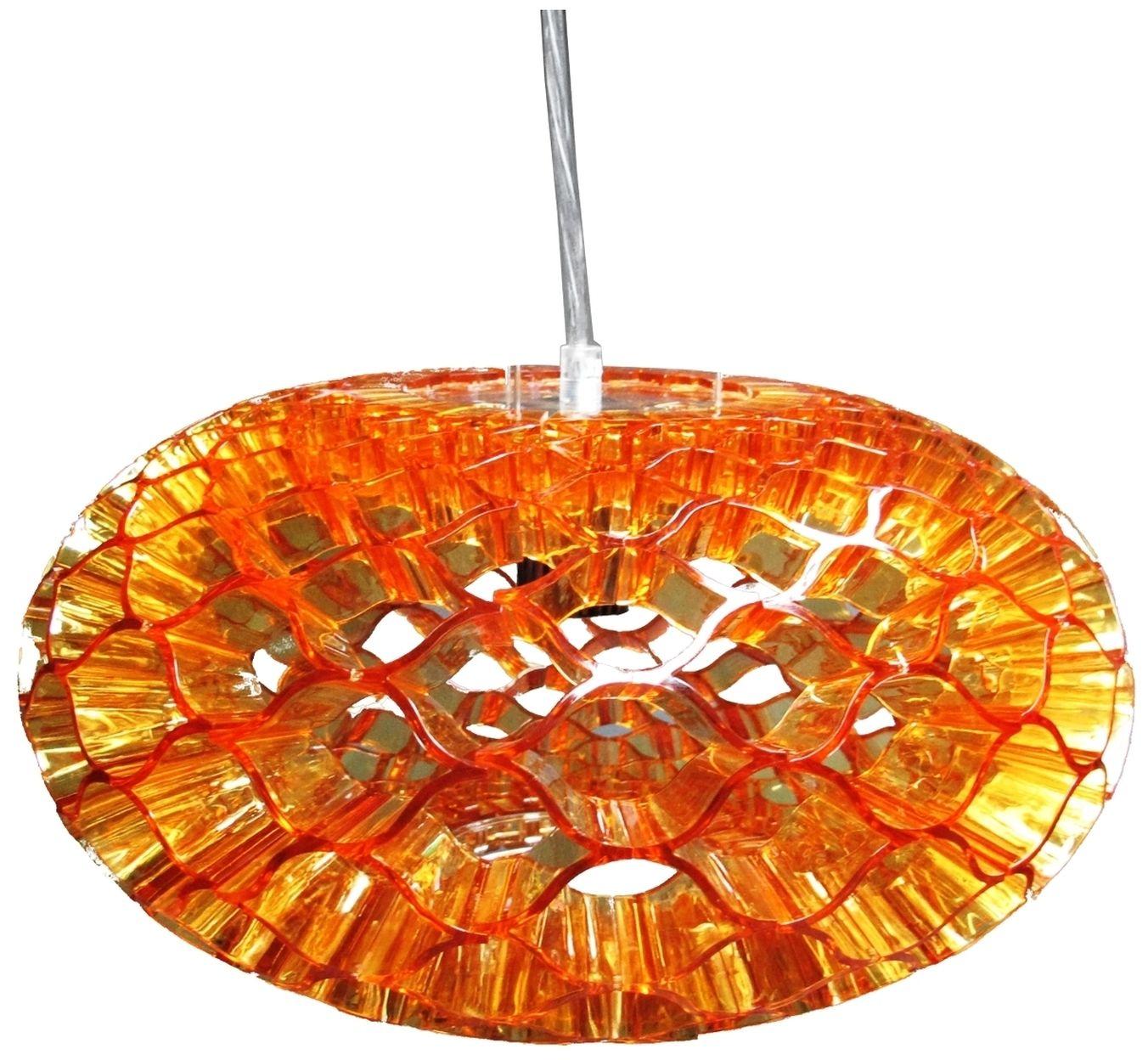 Candellux HONEY 31-49646 lampa wisząca abażur z akrylu bursztynowy 1X60W E27 38 cm
