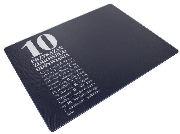 AL - Deska/podkładka szklana 10 przykazań