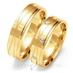 Obrączki ślubne Złoty Skorpion Au-O126
