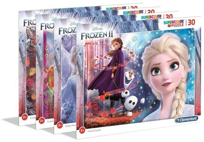 Puzzle ramkowe 30 Super Kolor Frozen 2