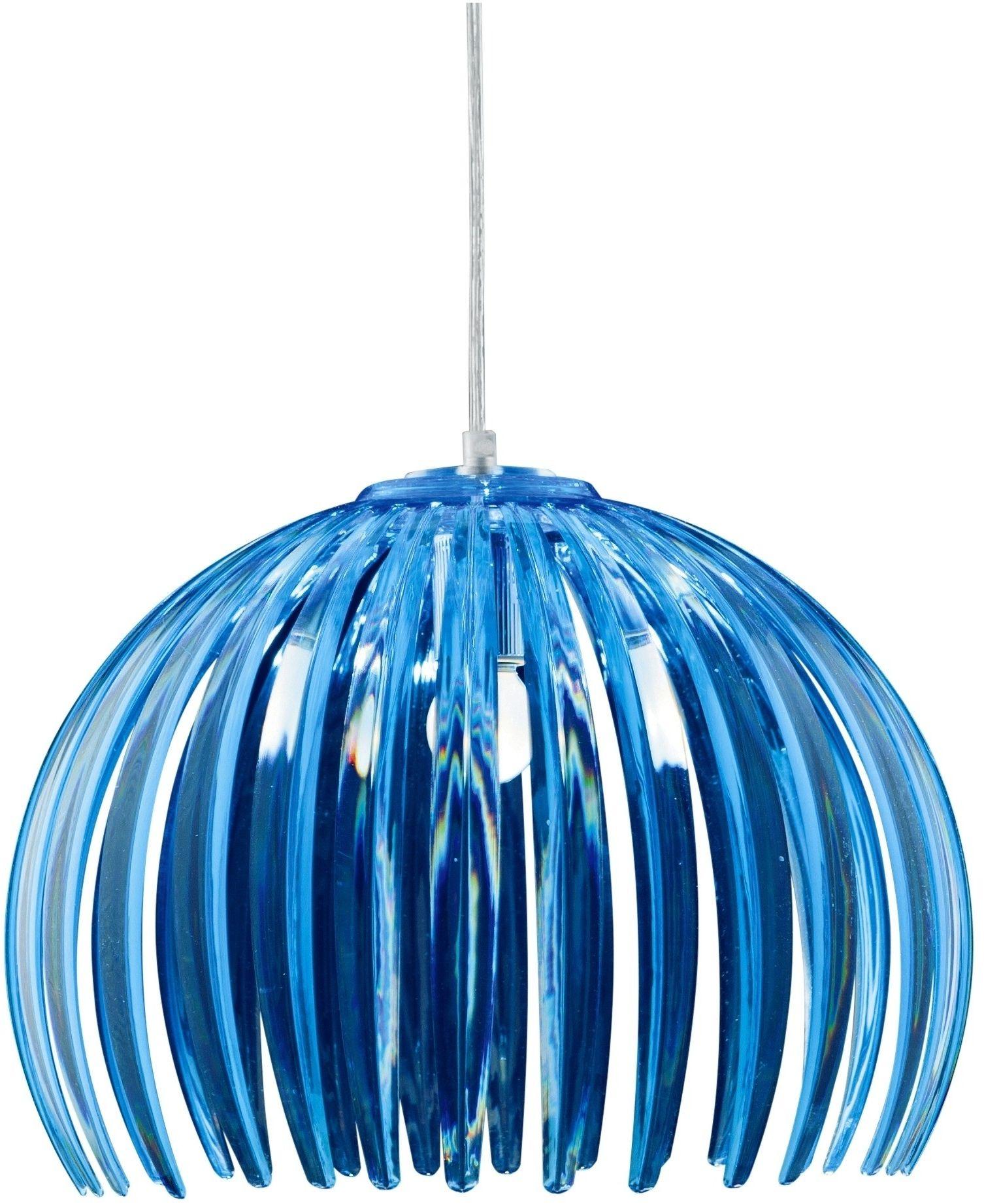 Candellux ABUKO 31-49783 lampa wisząca akrylowy klosz niebieski 1X60W E27 38 cm