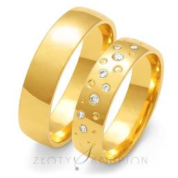 Obrączki ślubne Złoty Skorpion  wzór Au-O127