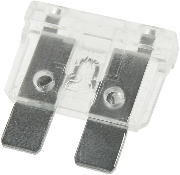 Bezpieczniki samochodowe płytkowe 25A - 10 sztuk