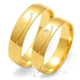 Obrączki ślubne Złoty Skorpion  wzór Au-O128