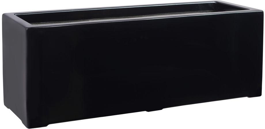 Donica z włókna szklanego D972B czarny połysk