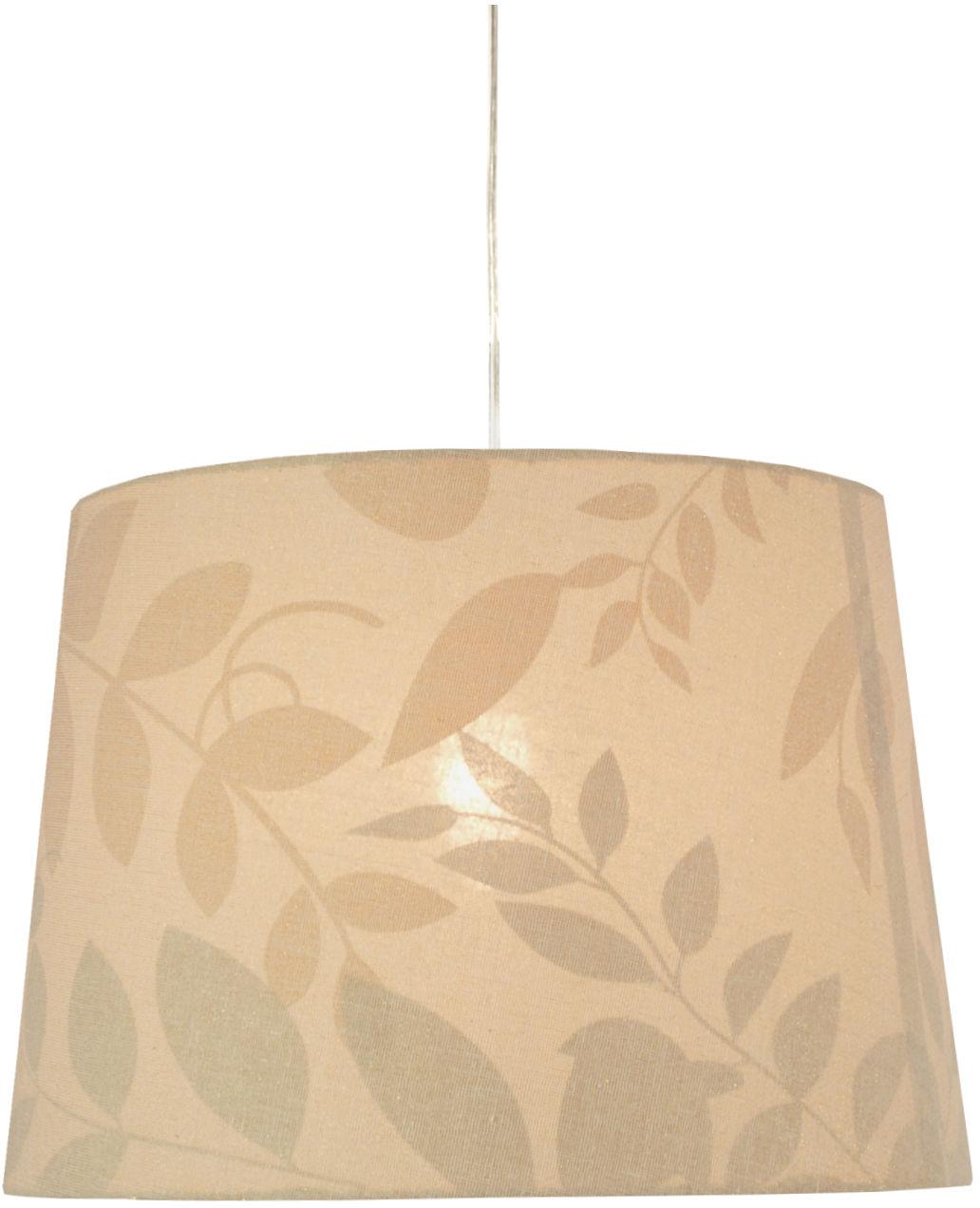 Candellux MIRAGE 31-03218 lampa wisząca abażur stożkowy biały z roślinnym motywem 1X60W E27 35 cm