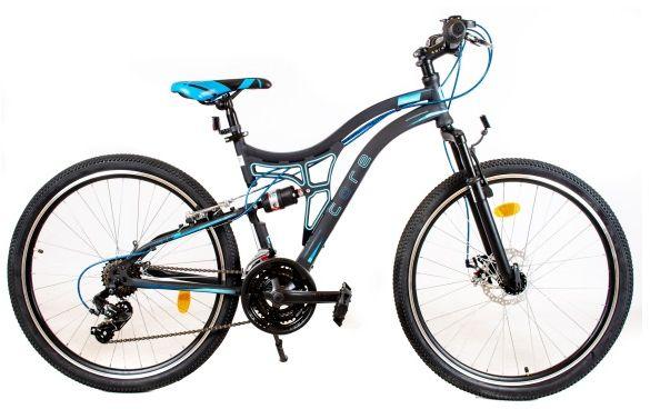 Rower Tought 24 R17 Me 2021 czarno-niebieski
