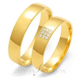 Obrączki ślubne Złoty Skorpion  wzór Au-O129