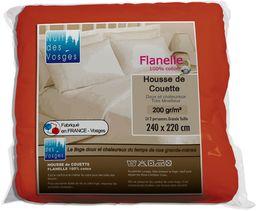 Nuit des Vosges 2228236 Caen kołdra pikowana uniwersalna flanela / bawełna rdzawa 220 x 240 cm