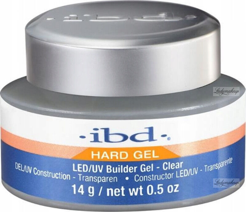 Ibd - Hard Gel - LED/UV Builder Gel - Żel budujący - 14 g - CLEAR