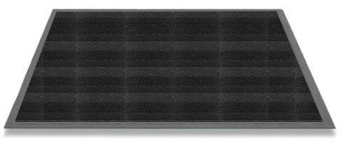 Pyłoszczelna mata przejściowa z poliamidu, jasnobrązowa, 135 x 200 cm, grafitowa czerń, 68 x 90 cm