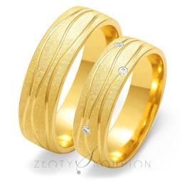 Obrączki ślubne Złoty Skorpion  wzór Au-O130