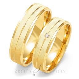 Obrączki ślubne Złoty Skorpion  wzór Au-O131