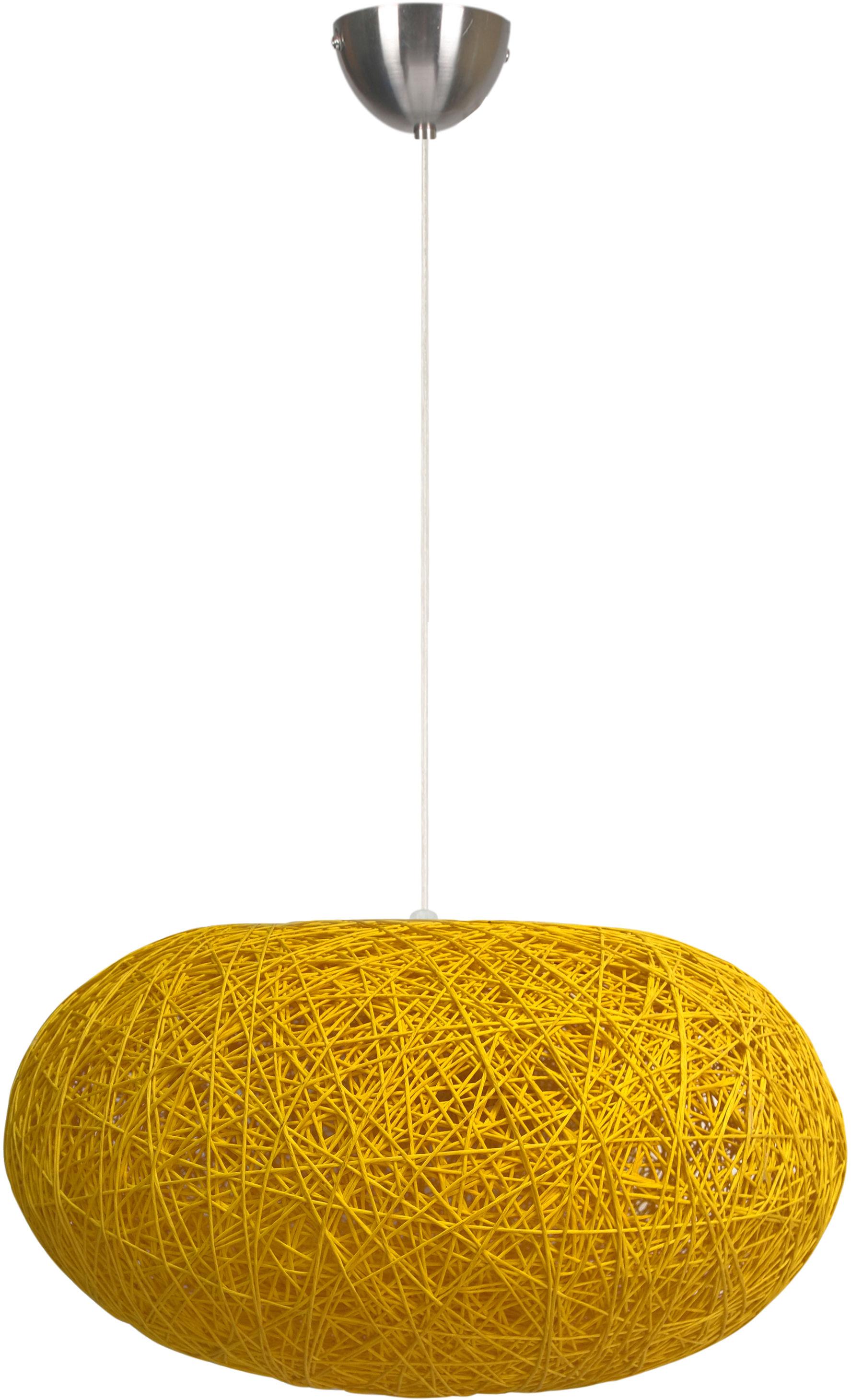 Candellux LIVIO 31-51158 lampa wisząca owalny abażur kremowy sznurek 1X60W E27 38 cm
