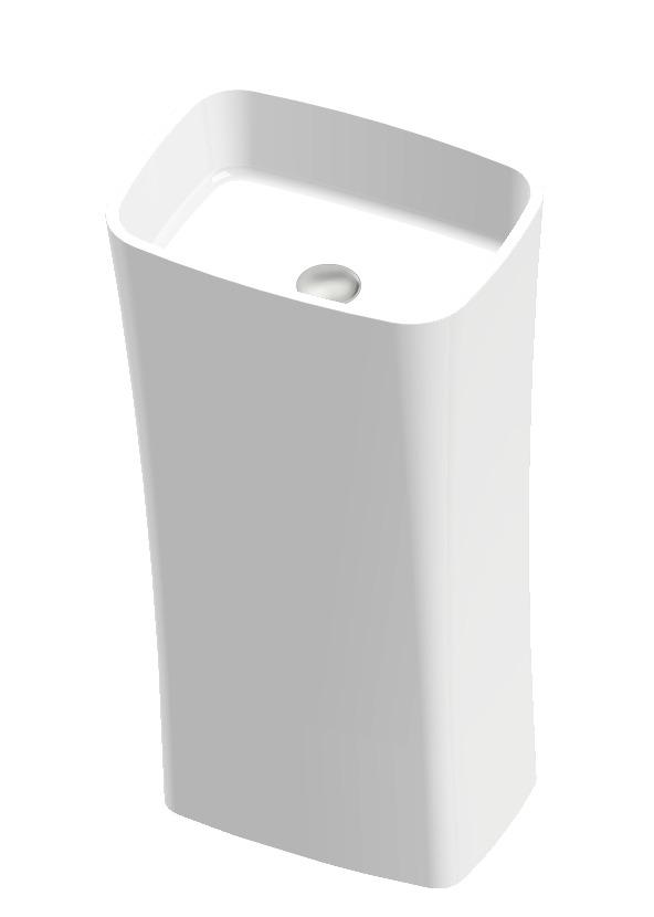 Vayer Volans umywalka wolnostojąca 45x33x85cm biała 045.033.085.3-4.0.3.0.0