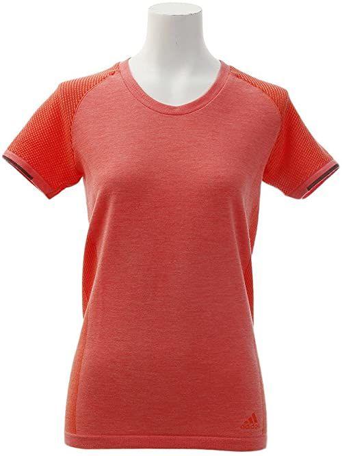 Adidas damski t-shirt z dzianiny P, pomarańczowy/gorset/czarny, mały