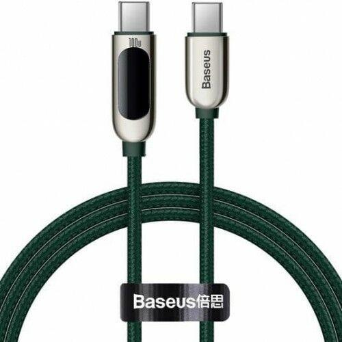 Kabel Baseus Display 100W 5A USB-C do USB-C 1m, zielony