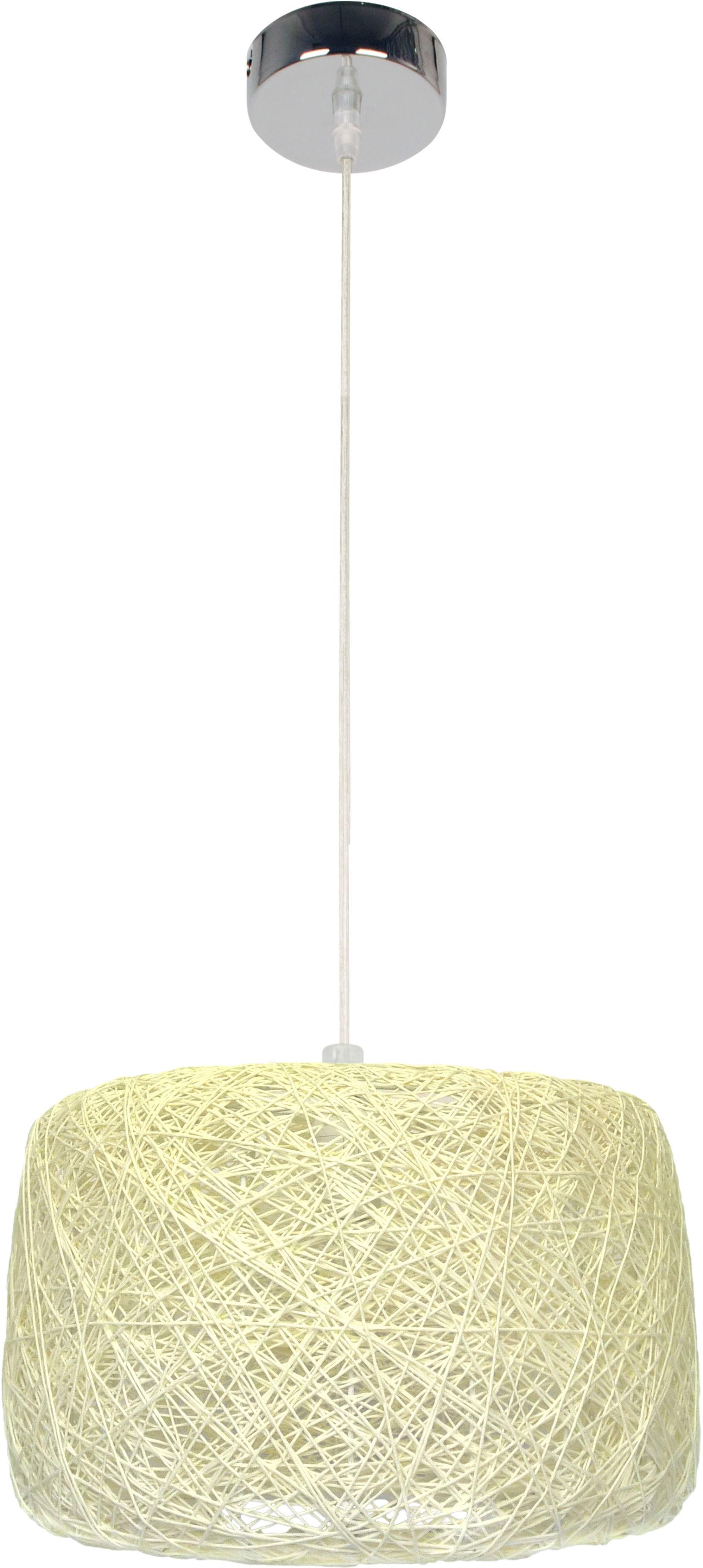 Candellux PANDA 31-51141 lampa wisząca abażur tkanina kremowy 1X60W E27 35 cm