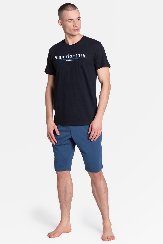 Bawełniana piżama męska Henderson 38366 ZED czarna