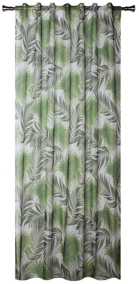 Firana na szelkach Palmas 140 x 260 cm zielona