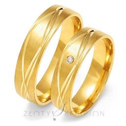 Obrączki ślubne Złoty Skorpion  wzór Au-O132