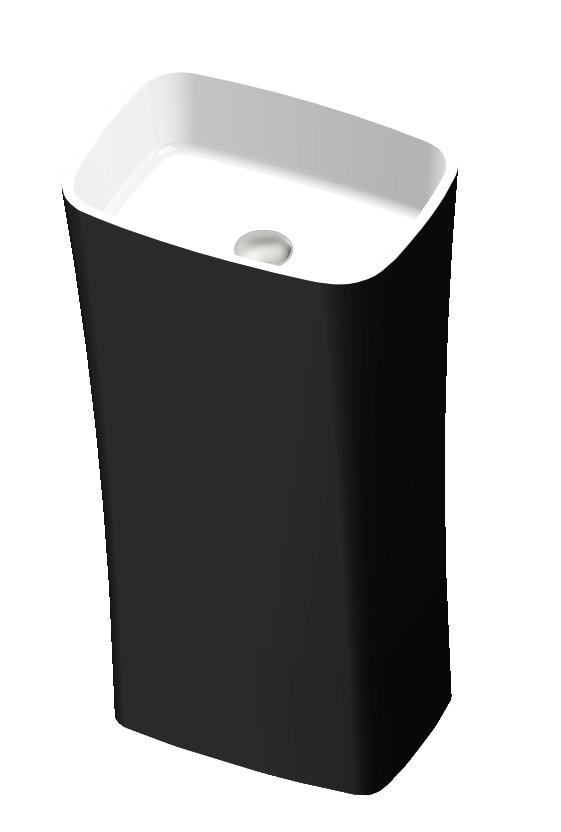 Vayer Volans umywalka wolnostojąca 45x33x85cm biała-czarna 045.033.085.3-4.0.3.0.0.BC