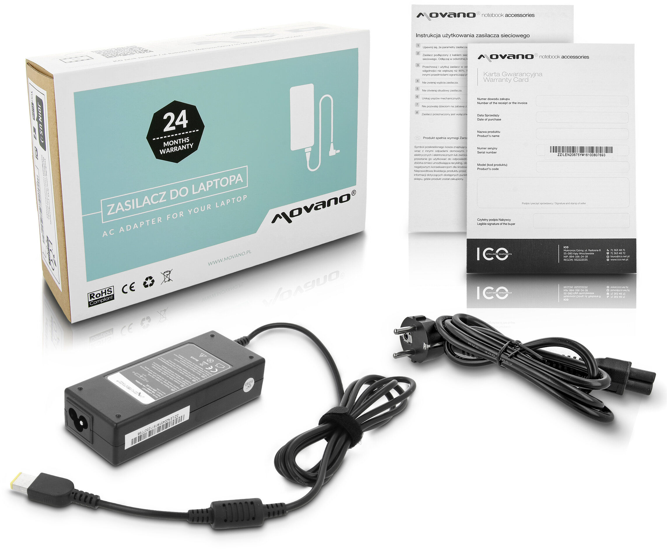 Zasilacz Lenovo 0B46994 45N0235 Thinkpad S5 X1 Movano 20V 4.5A - yoga