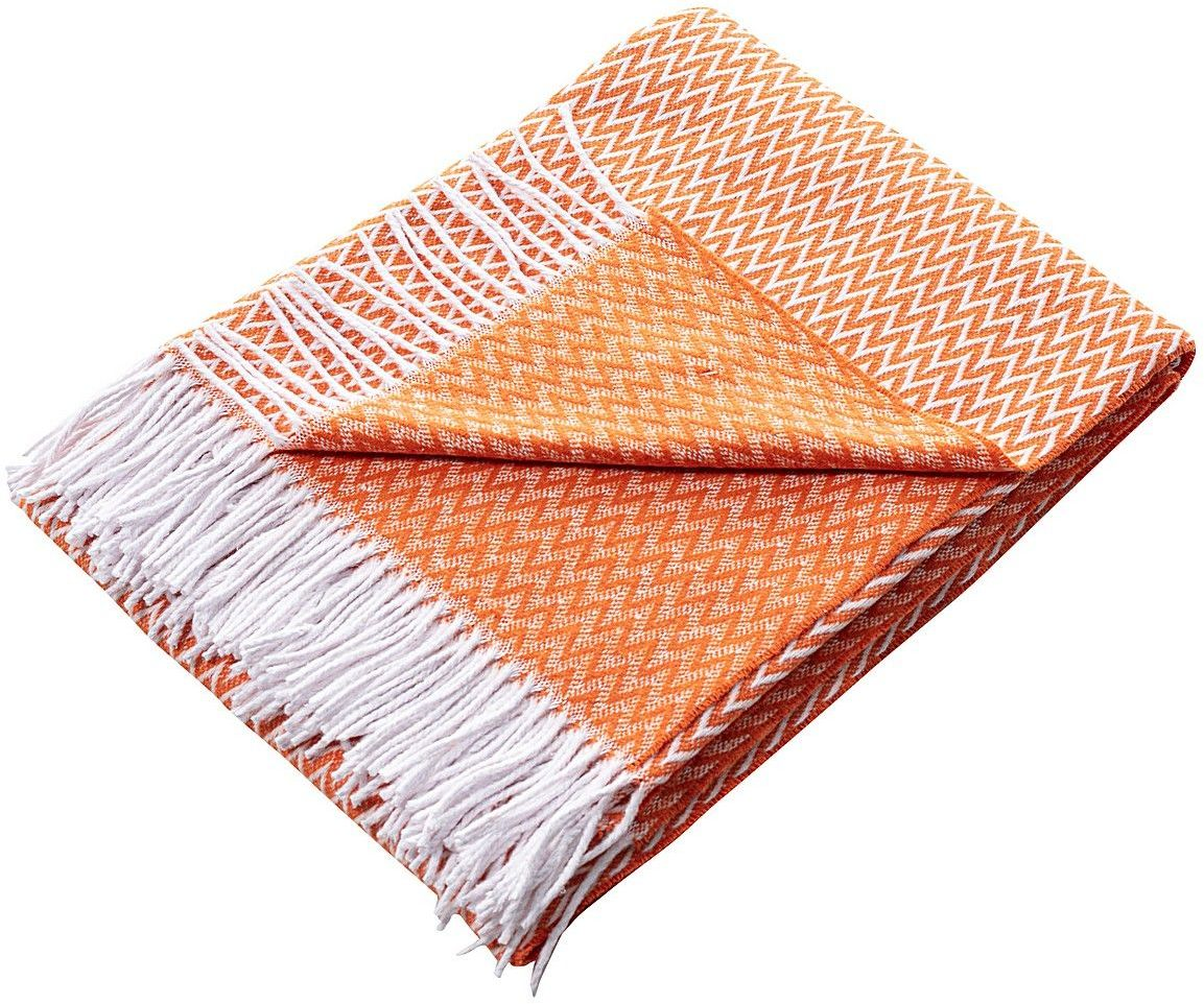 Pled Ibiza 140x200cm orange chevron