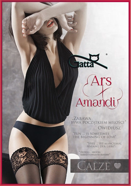 Gatta Ars Amandi Calze 01 - Thigh High Stockings with Lace Kamasutra Nero Black