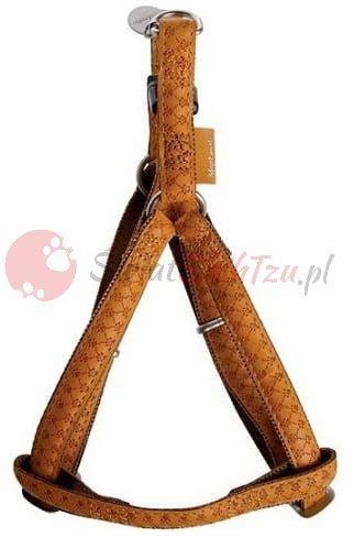 Zolux szelki regulowane Mac Leather 15mm żółte
