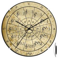 Zegar convex hobby koło kwintowe #1
