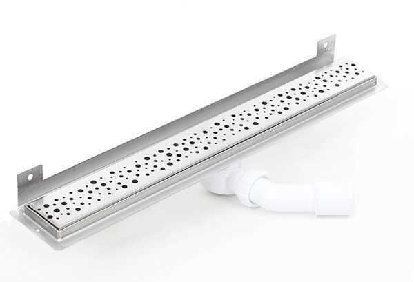 Kesmet Wall Silver Chaos odpływ ścienny 1100KWF_p 1100mm (syfon plastikowy)