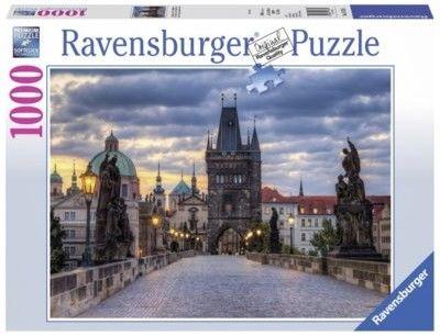 Puzzle Ravensburger 1000 - Praga, Spacer po moście Karola, Prague, Walk on the Charles bridge
