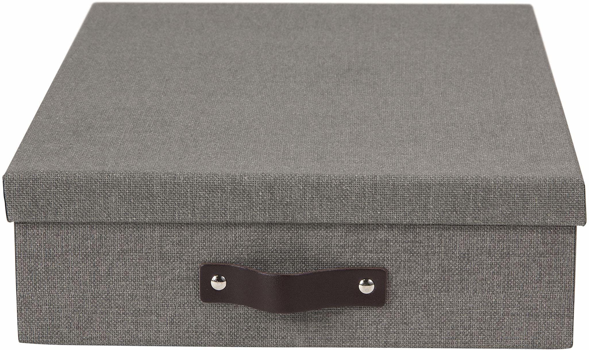 """Pudełko do przechowywania A4 """"Oskar"""" na listy, 26 x 35 x 9 cm (szer. x gł. x wys.) szare"""