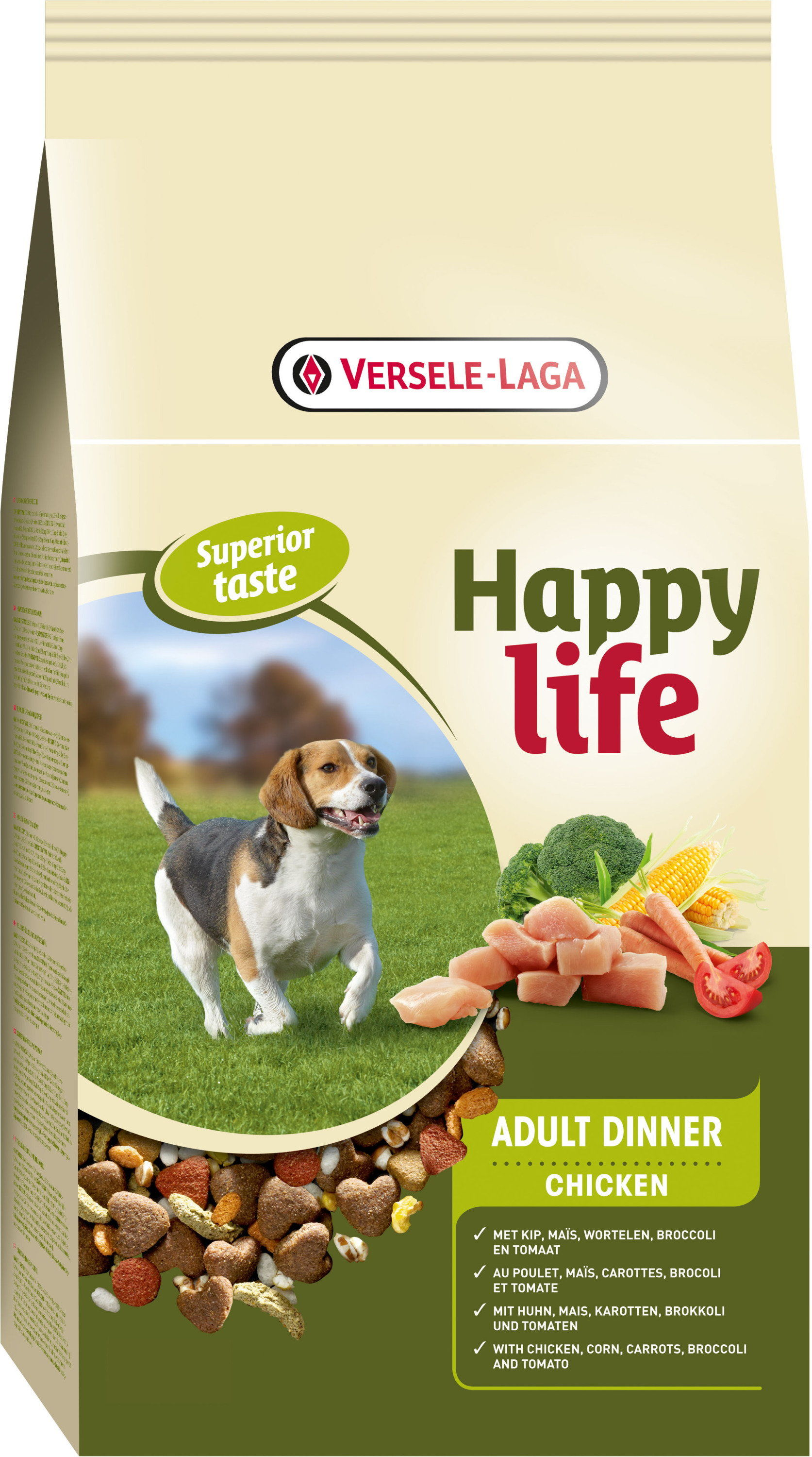 VERSELE-LAGA Happy Life Adult Chicken 15kg Darmowa dostawa